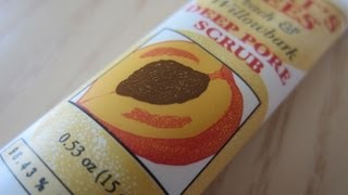 Burt's Bees Peach & Willowbark Deep Pore Scrub Review Thumbnail