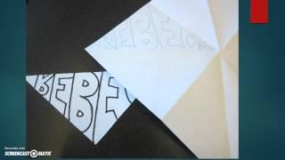 Kaleidoscope Name Drawing