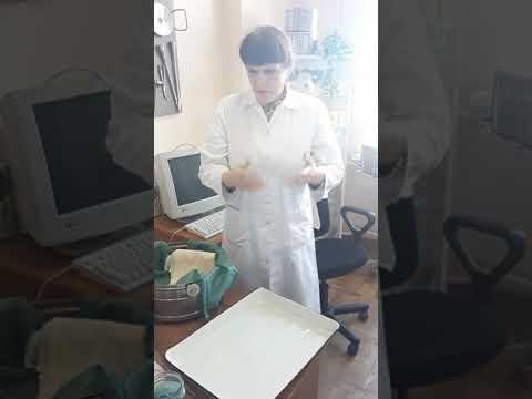 Накрывание стола перевязочной сестры