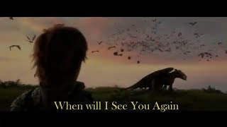 Together From Afar (with lyrics) - H๐w To Train Your Dragon The Hidden World || HTTYD 3 Soundtrack