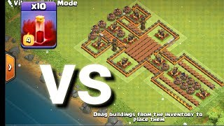 Max 10 skeleton spell vs this difficult base😀 coc private server best ever video
