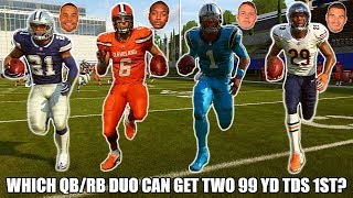 WHICH QB/RB DUO CAN GET TWO 99 YD TDS 1ST? MADDEN 19 CHALLENGE