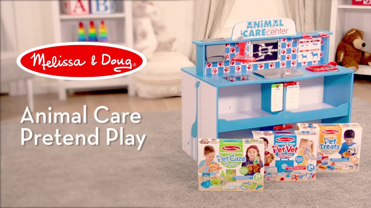 Melissa Doug Animal Care Activity Play Center Watch Countless Ways Kids Can Play