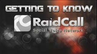 Raidcall - Free voice communication program - How to use quick guide