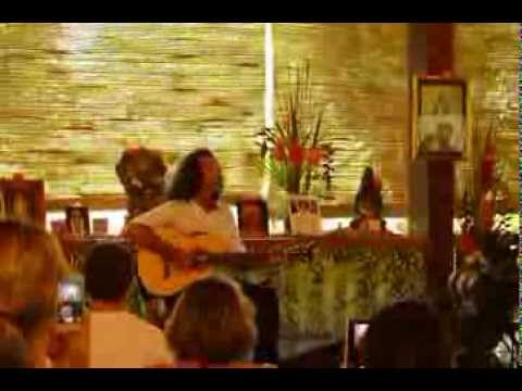Shamanic Ashtangi Danny Paradise preforming three songs at Ashtanga Yoga Conference Bali