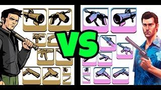 TODAS LAS ARMAS DE GTA III VS GTA VICE CITY