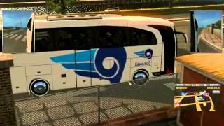 Euro Truck Simulator 2 Mercedes Travego ile Paris'e yolculuk