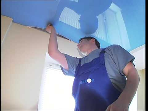 голубое небо натяжной потолок