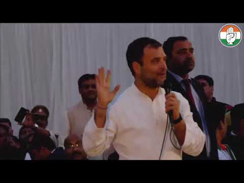 Congress President Rahul Gandhi addresses Party Workers in Lucknow