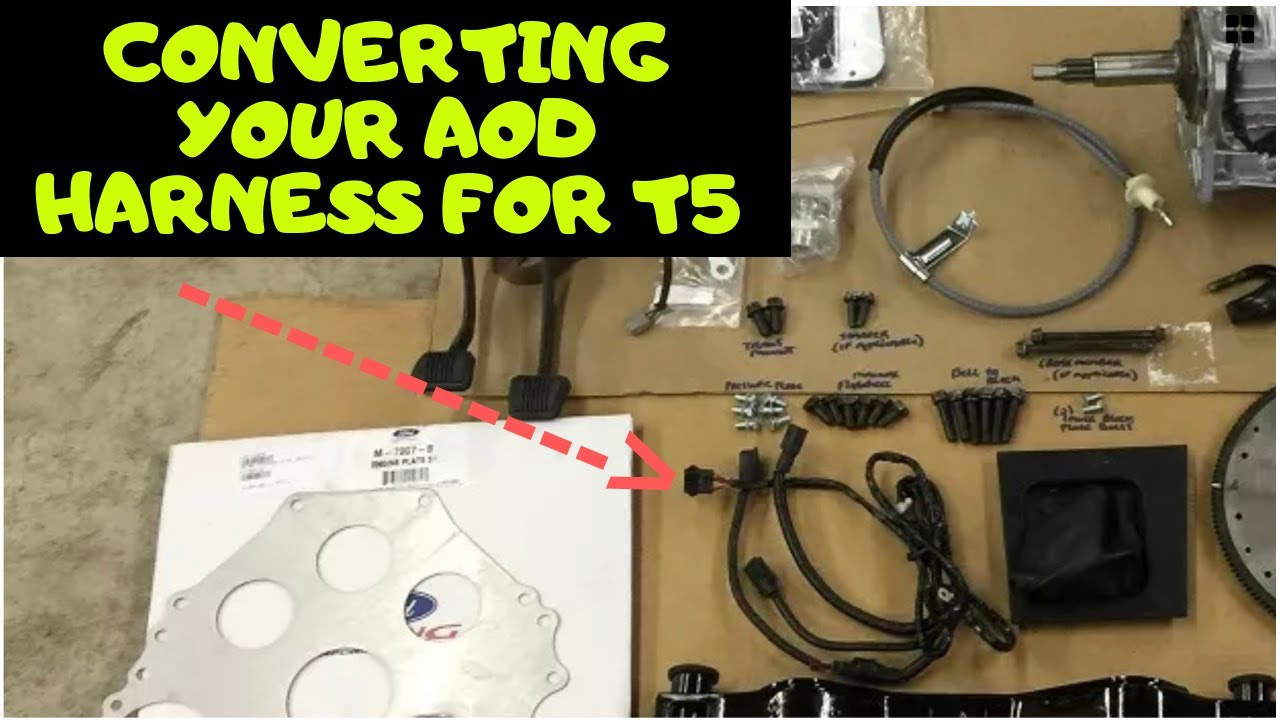 [SCHEMATICS_4LK]  HOW To Use The AOD Transmission Harness w/ a T5 Transmission Fox Body  Project Car - YouTube | Aod Wiring Harness |  | YouTube