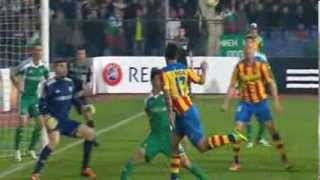 Philippe Senderos Ludogorets vs Valencia 0-3  Europa League  13 03 2014 HD