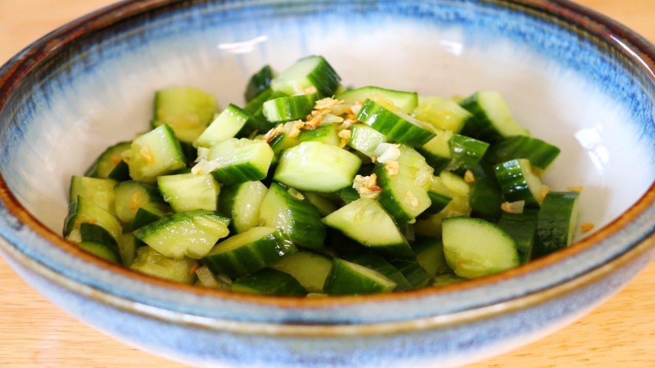 5 Minutes Asian Cucumber Salad Recipe, CiCi Li - Asian Home Cooking Recipes