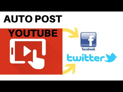 How To Automatically Post Youtube To Twitter And Facebook