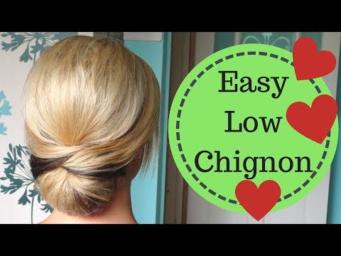 Easy Smooth Low Chignon Hairstyle Tutorial