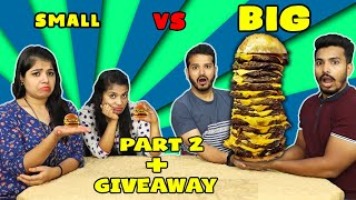 SMALL VS BIG EATING COMPETITION PART 2 ! TINY VS GIANT FOOD CHALLENGE PART 2