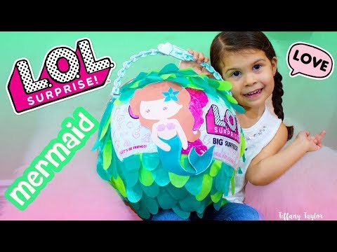 LOL Mermaid Big Surprise & Custom LOL Big Surprise With a Fake Custom Mermaid Confetti Pop!