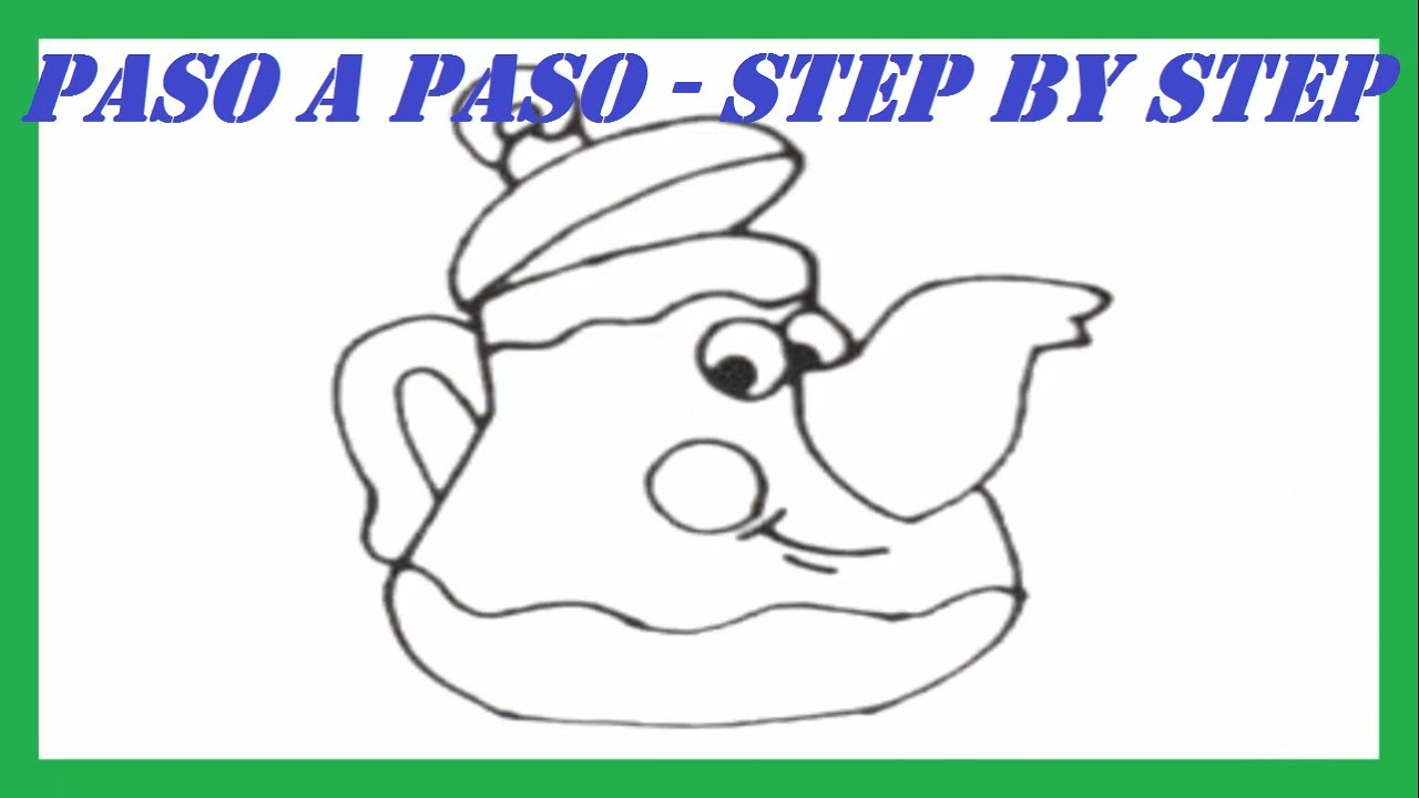 Como dibujar una Jarra de T paso a paso l How to draw a Pot of