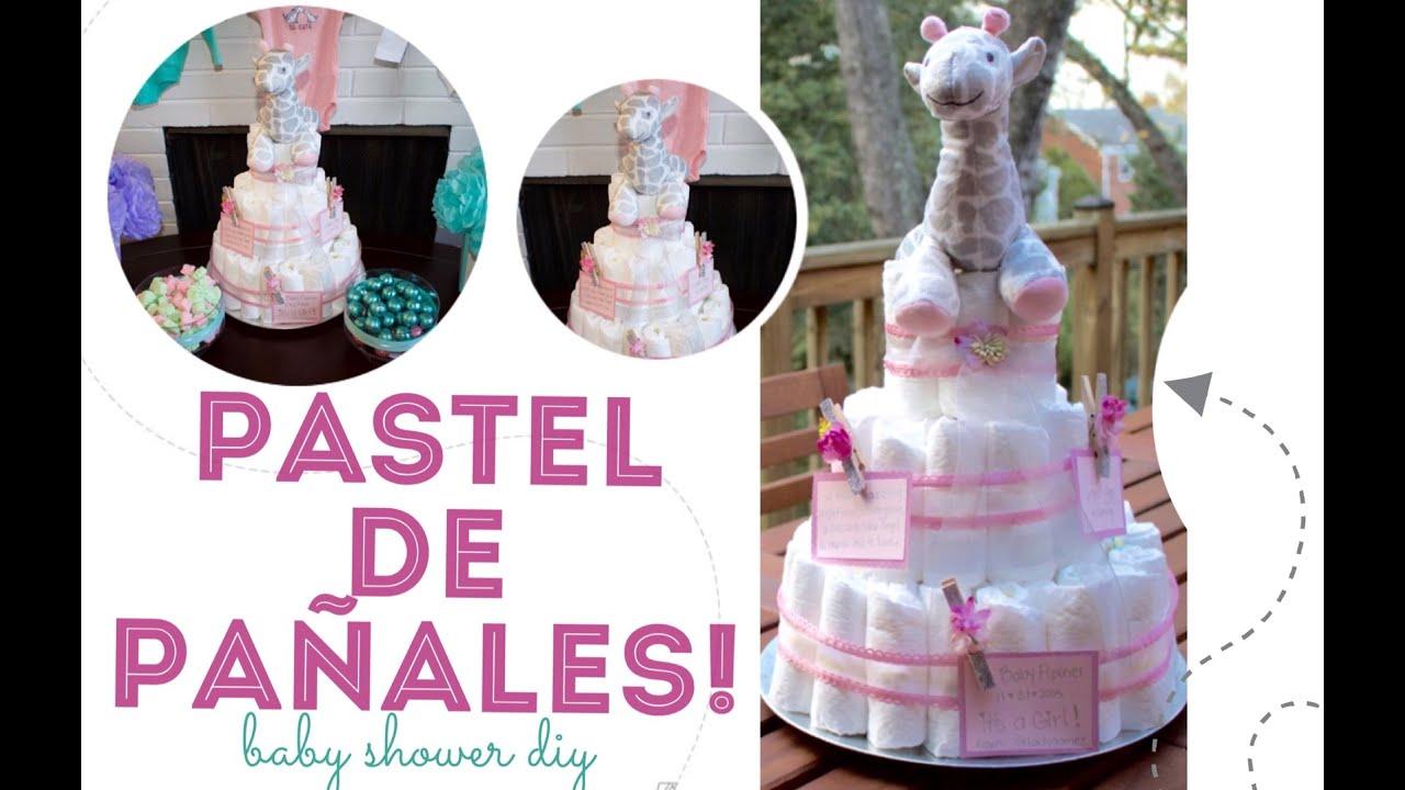 como hacer un pastel con pa ales para baby shower diy diaper cake
