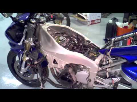 2000 Yamaha YZFR1 Motorcycle Engine Rebuild Part 1  YouTube
