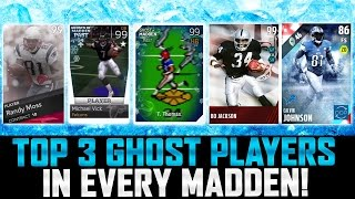 TOP 3 GHOST PLAYERS IN EVERY MADDEN! | HISTORY OF MUT GHOST CARDS!