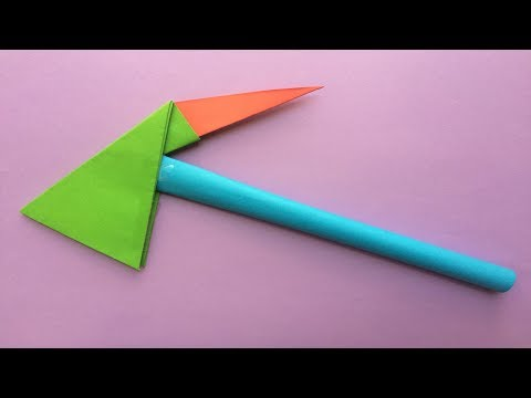 """How to make a paper super axe 