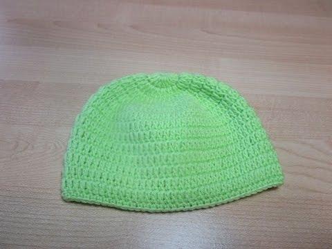 Crochet Uncinetto Cappellino Neonato Verde Youtube