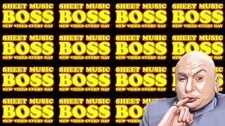 Sheet Music Boss theme played 1 BILLION times