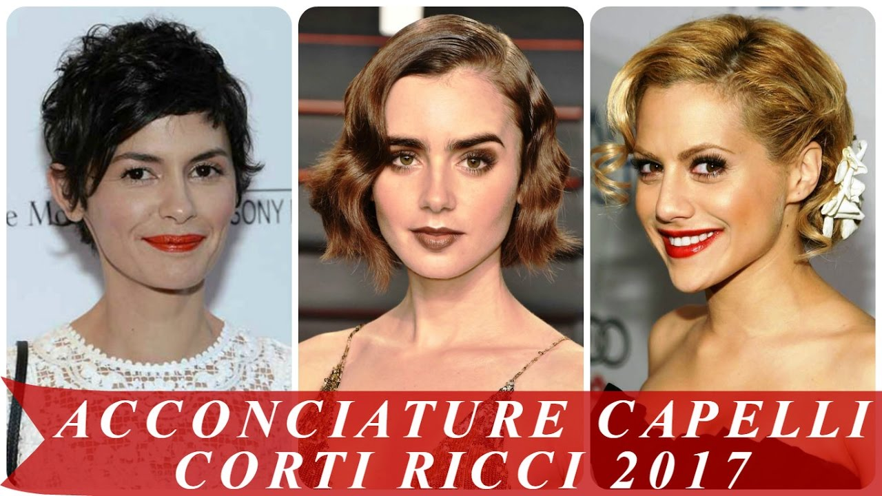 Super Acconciature capelli corti ricci 2017 - YouTube HX97