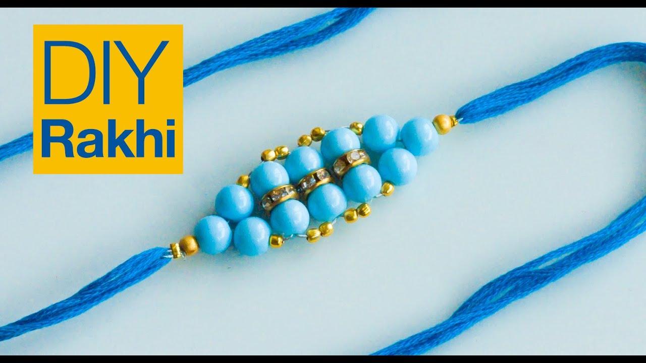 How to make rakhi | rakhi design for Raksha Bandhan | Beads art ...