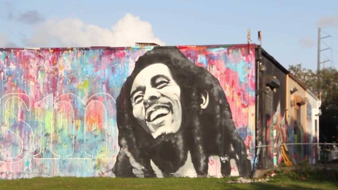 bob marley mural in wynwood miami can see this from i 95 On bob marley mural