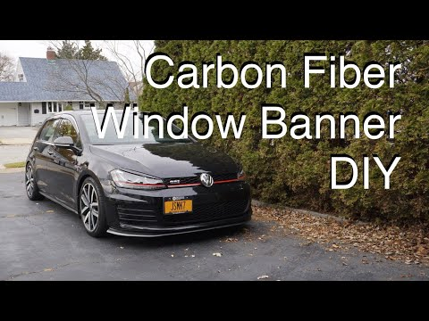 Adding a window banner to your GTI