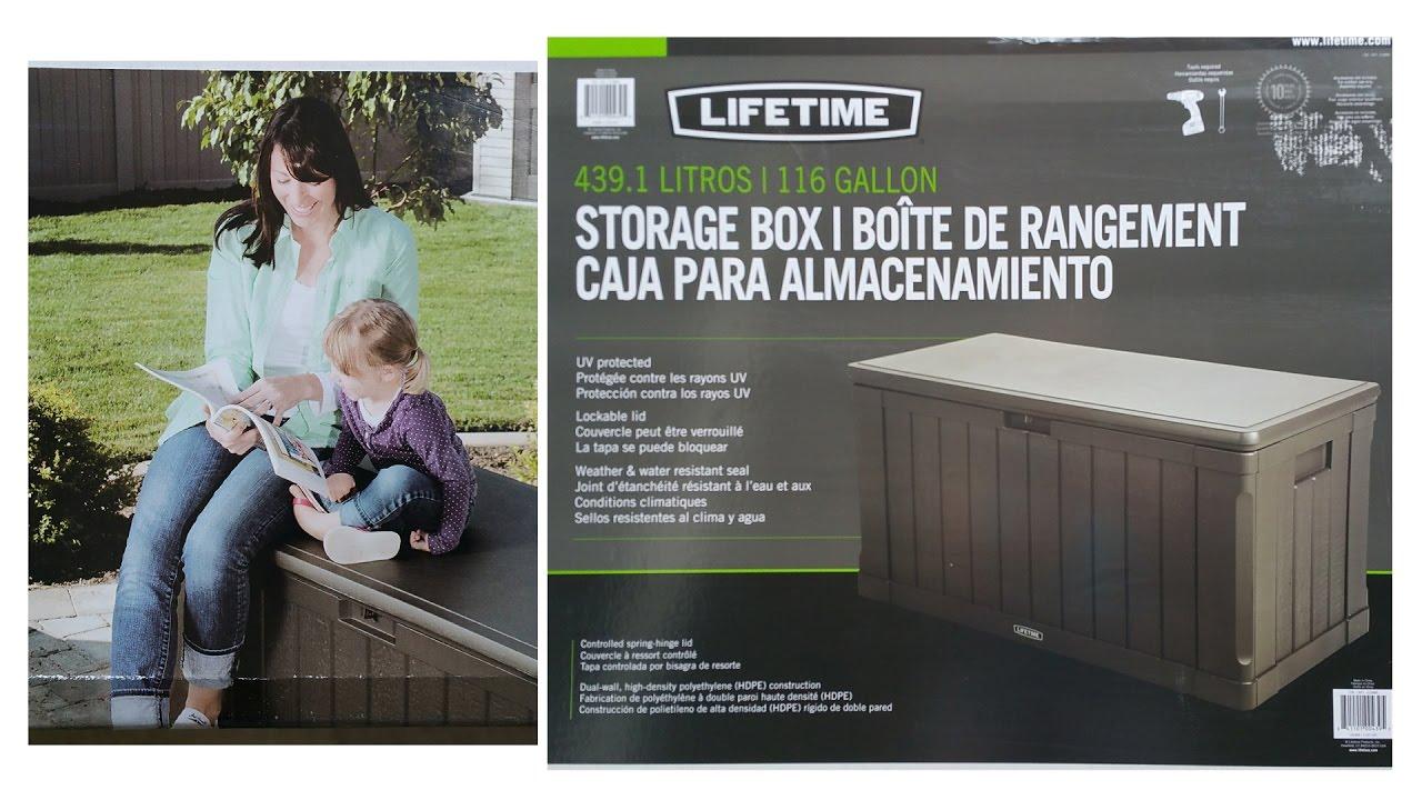 Lifetime 116 Gallons Deck Storage Box Assembling Video ? & Lifetime 116 Gallons Deck Storage Box Assembling Video ? - YouTube