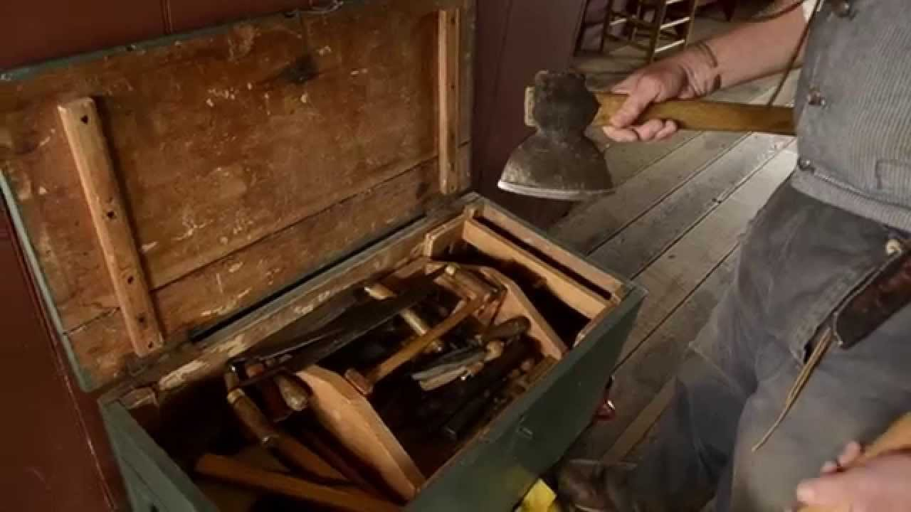 Woodworking Tour 1820s Tool Chest At The Frontier Culture Museum Youtube