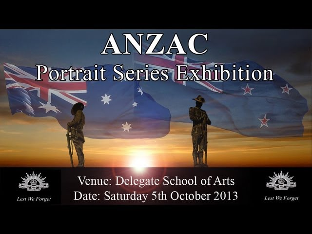 ANZAC Portrait Series Exhibition 2013