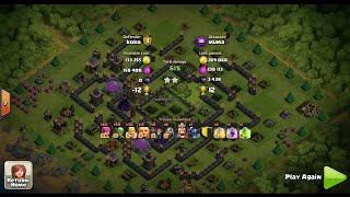 "clash of clans | defense log | ""Mirage"" - TH9 Farming Base - Labyrinth"