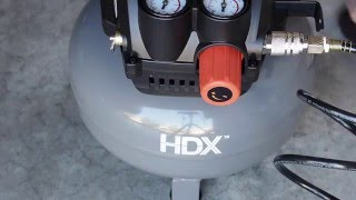 hdx 2 gallon pancake air compressor