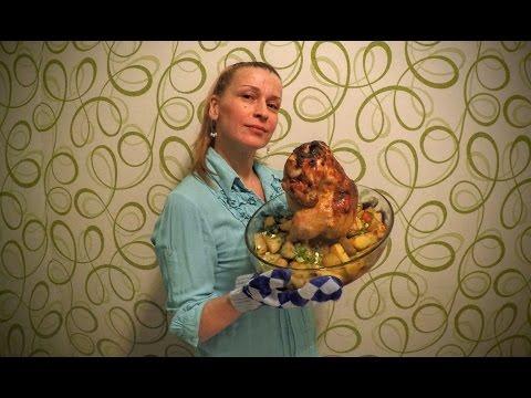 Вкусная курица запеченная с картошкой рецепт Секрета приготовления блюда в духовке