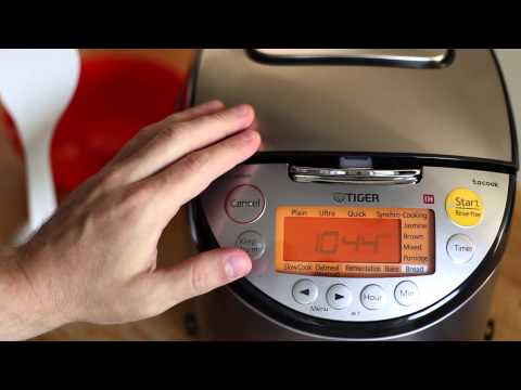 Using Slow-Cook setting on Tiger Rice Cooker