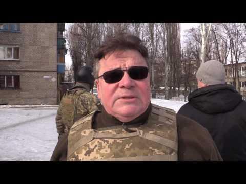 Lietuvos užsienio reikalų ministro L.Linkevičiaus vizitas Avdijevkoje, rytų Ukraina