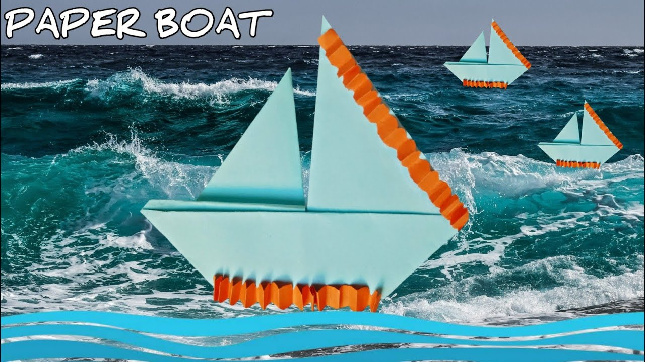 Origami Boat Square Paper | How to build a Paper Boat