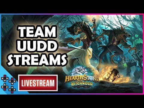 Team UUDD Streams: HEARTHSTONE - THE WITCHWOOD PACK OPENING! – UpUpDownDown Streams