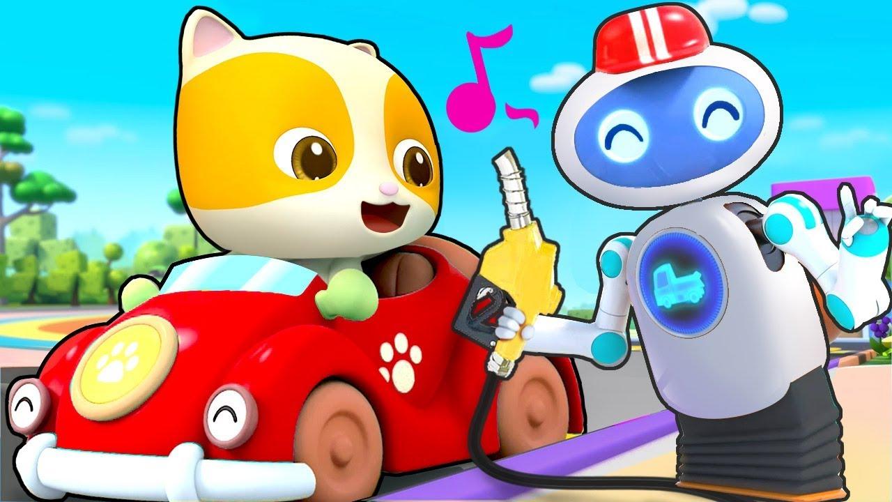 Robot bán xăng tự động   Trạm xăng vui vẻ   Nhạc thiếu nhi vui nhộn   BabyBus