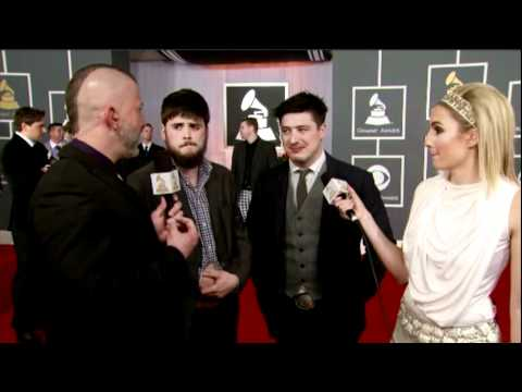 Marcus Mumford and Winston Marshall - Mumford & Sons - Red Carpet - Grammy Awards 2012