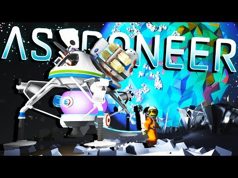 LAUNCHING To BARREN and Starting a MOON BASE! - Astroneer Gameplay