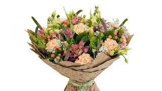 Букет из гвоздик и ананасов - Цветочный Маркет 24