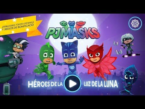 PJ MASKS. Juego Gratis Héroes De La Luz De La Luna, Vistazo  Héroes en pijamas Moonlight Heroes