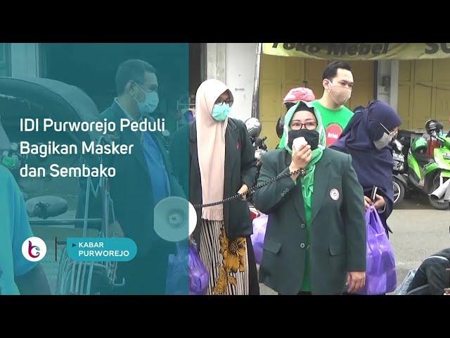 IDI Purworejo Peduli Bagikan Masker dan Sembako