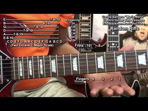Carlos Santana MARIA MARIA Guitar Solo Riffs Lesson  Wild Thoughts DJ Khaled Melody