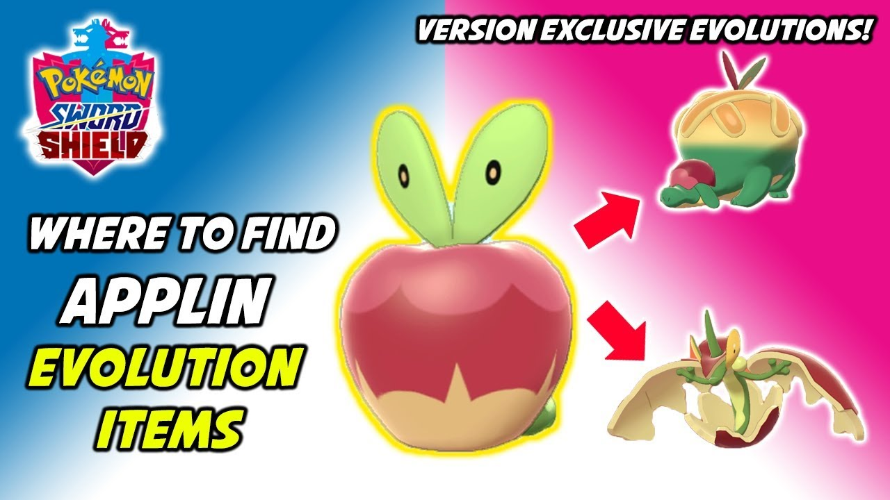 Where To Find Applin S Evolution Items How To Evolve Applin In Pokemon Sword And Shield Youtube