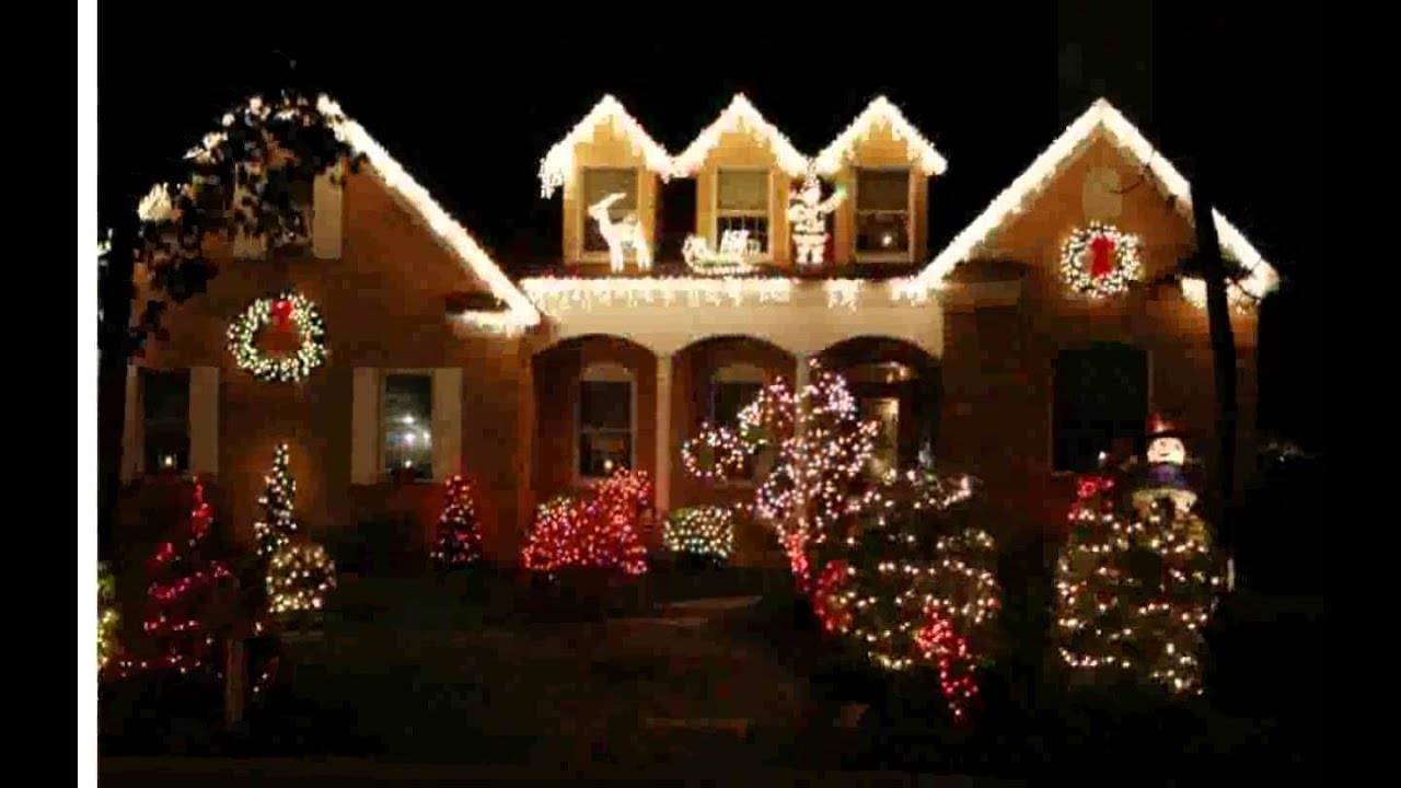 Christmas decoration ideas outside youtube - Christmas decorating exterior house ...